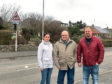 Sherri Pirie and George Eddie who helped Fraserburgh resident Brian Noble, centre, after his accident