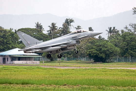 An RAF Typhoon jet