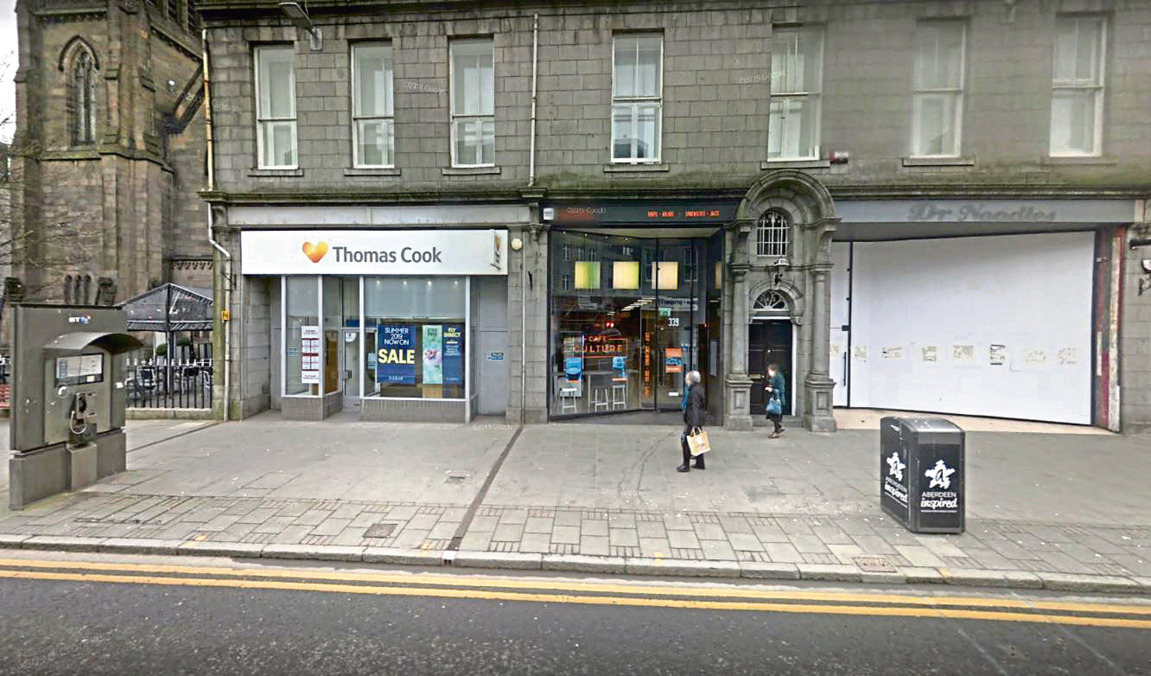 The site of the planned new fusion restaurant on Union Street