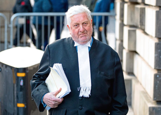 Gordon Jackson QC was filmed apparently discussing the court case of Alex Salmond