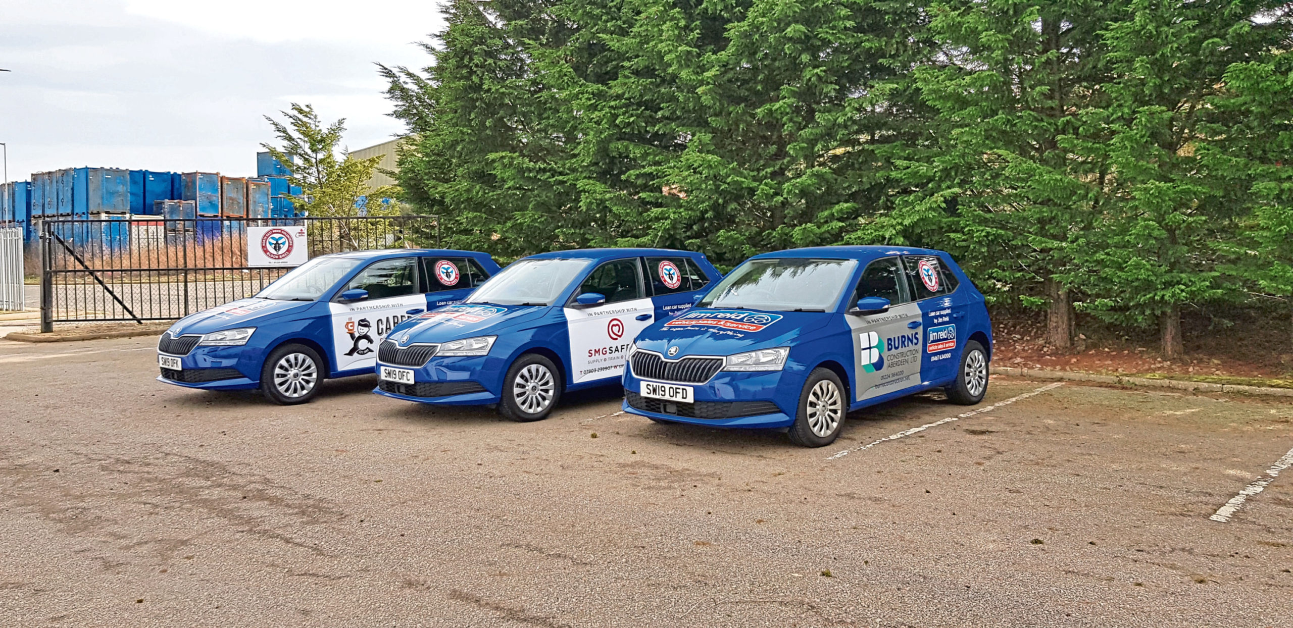 Three cars have been loaned to the blood delivery service