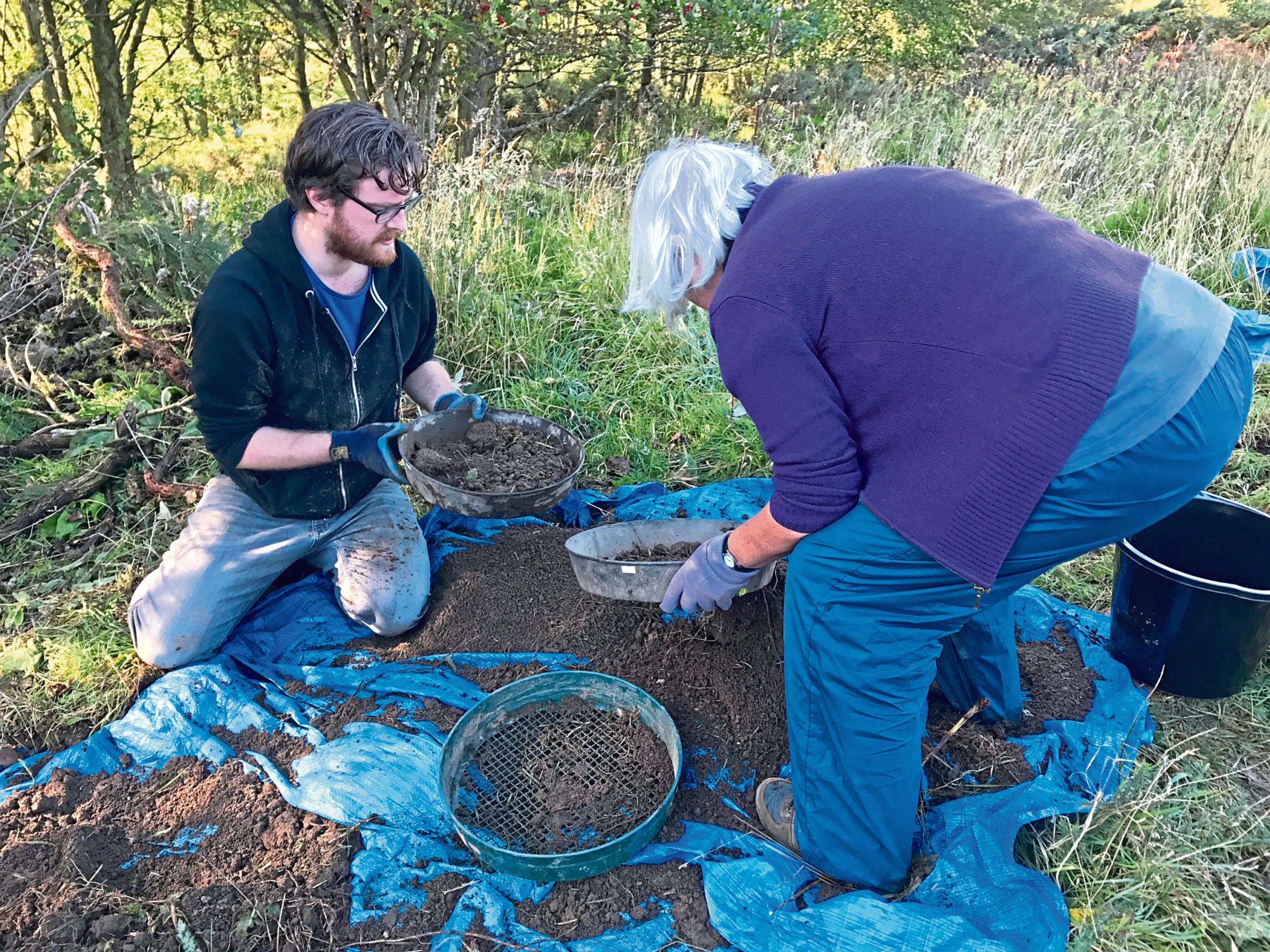 Mesolithic Deeside carrying out an excavation at a site in Aboyne