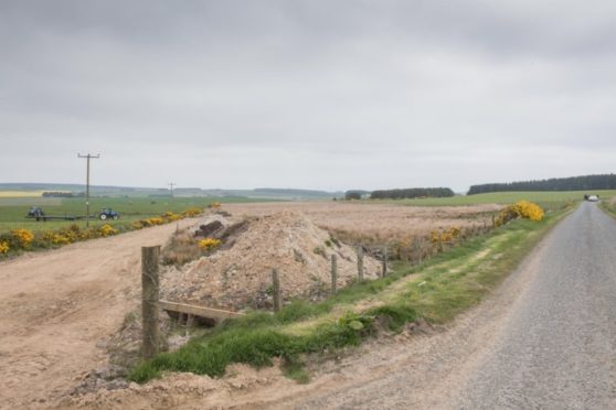 The proposed site at Muirtack near Ellon