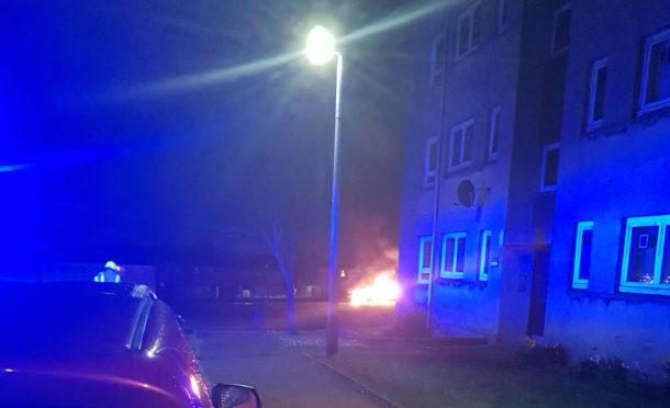 The scene near Cornhill Drive last night