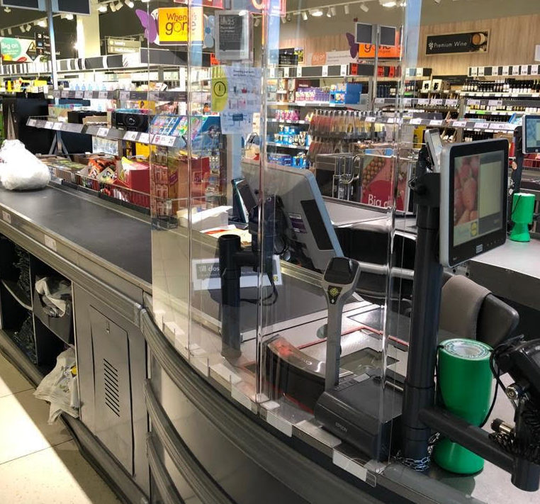 Sneeze and cough-proof screens will be installed in Lidl stores from today