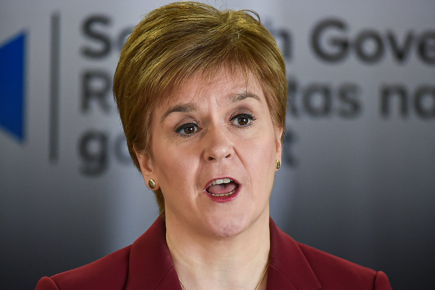 First Minister Nicola Sturgeon speaking at a coronavirus briefing