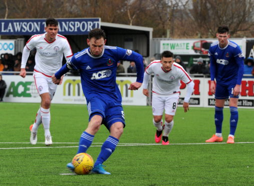 He has been a goal machine for Cove in recent years. Picture by Kenny Elrick