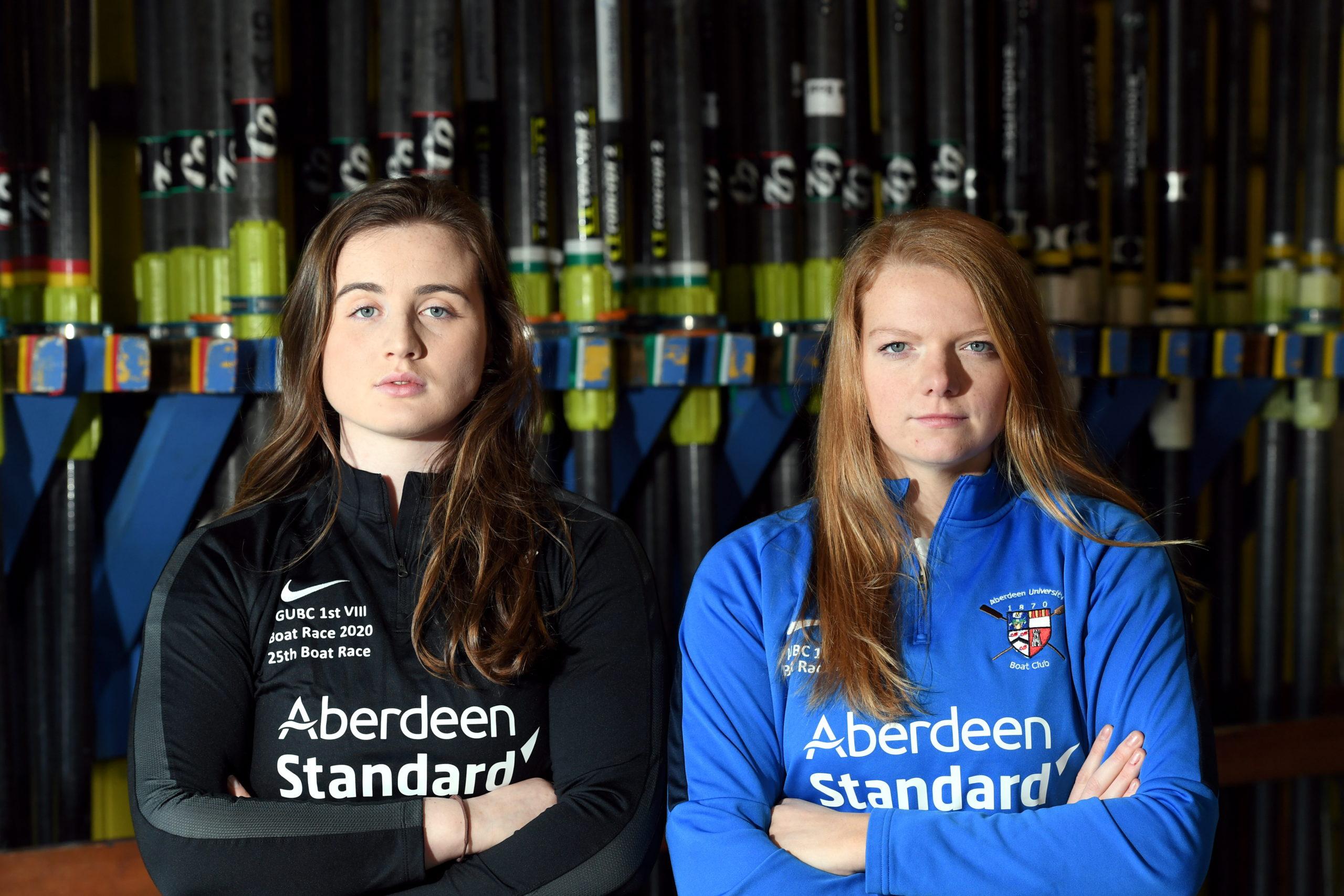 Left to right, Lizzie Buchan (Robert Gordon University) and Katie Sugden (University of Aberdeen).      Picture by Kami Thomson