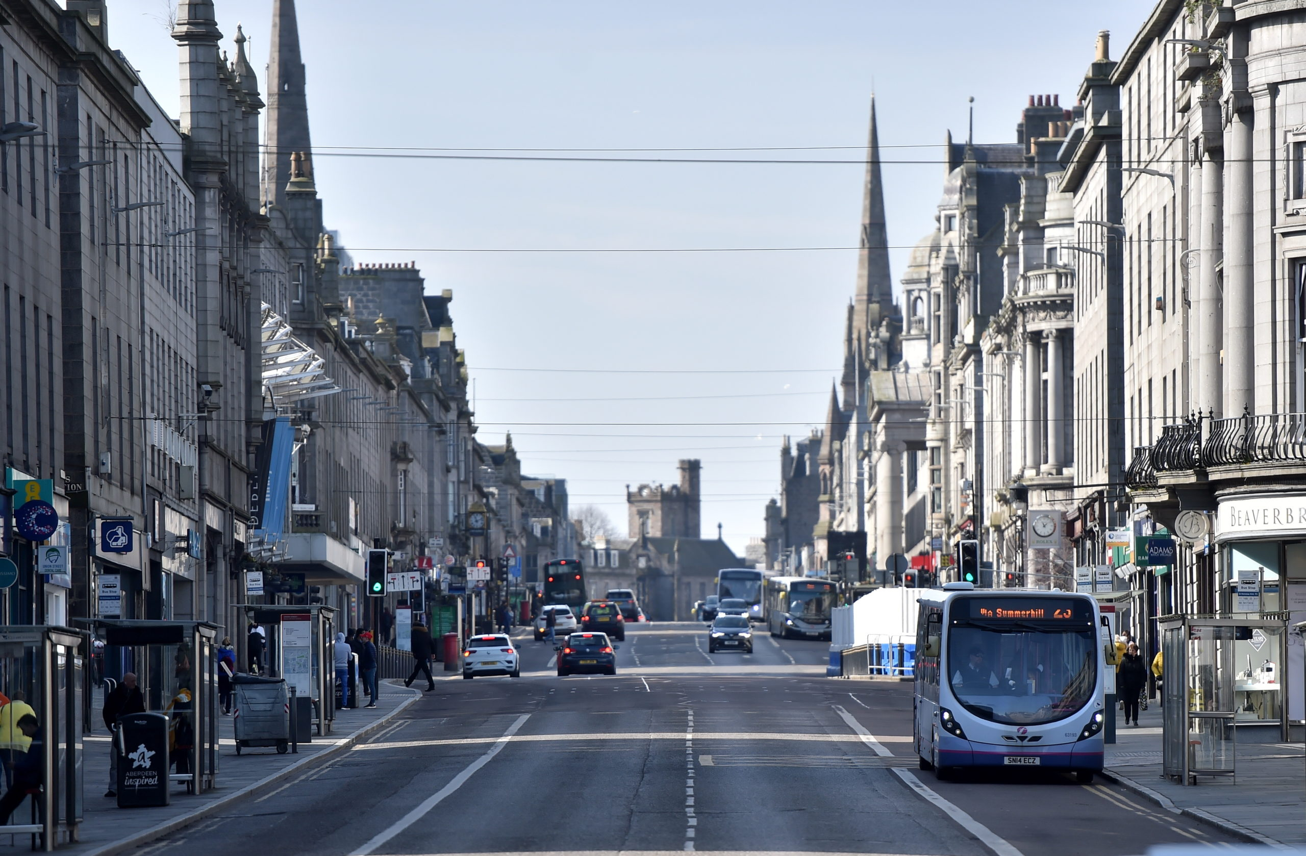 The level of pollution in Aberdeen has dropped