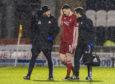 Scott McKenna trudges off during the William Hill Scottish Cup quarter-final against St Mirren.