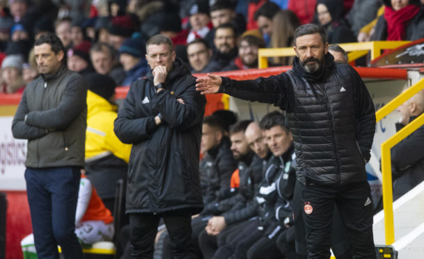 Aberdeen manager Derek McInnes wants a call made on the campaign.