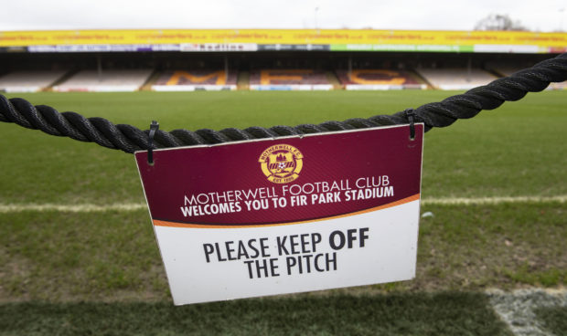 Fir Park was deserted on Friday after the decision to suspend fixtures.