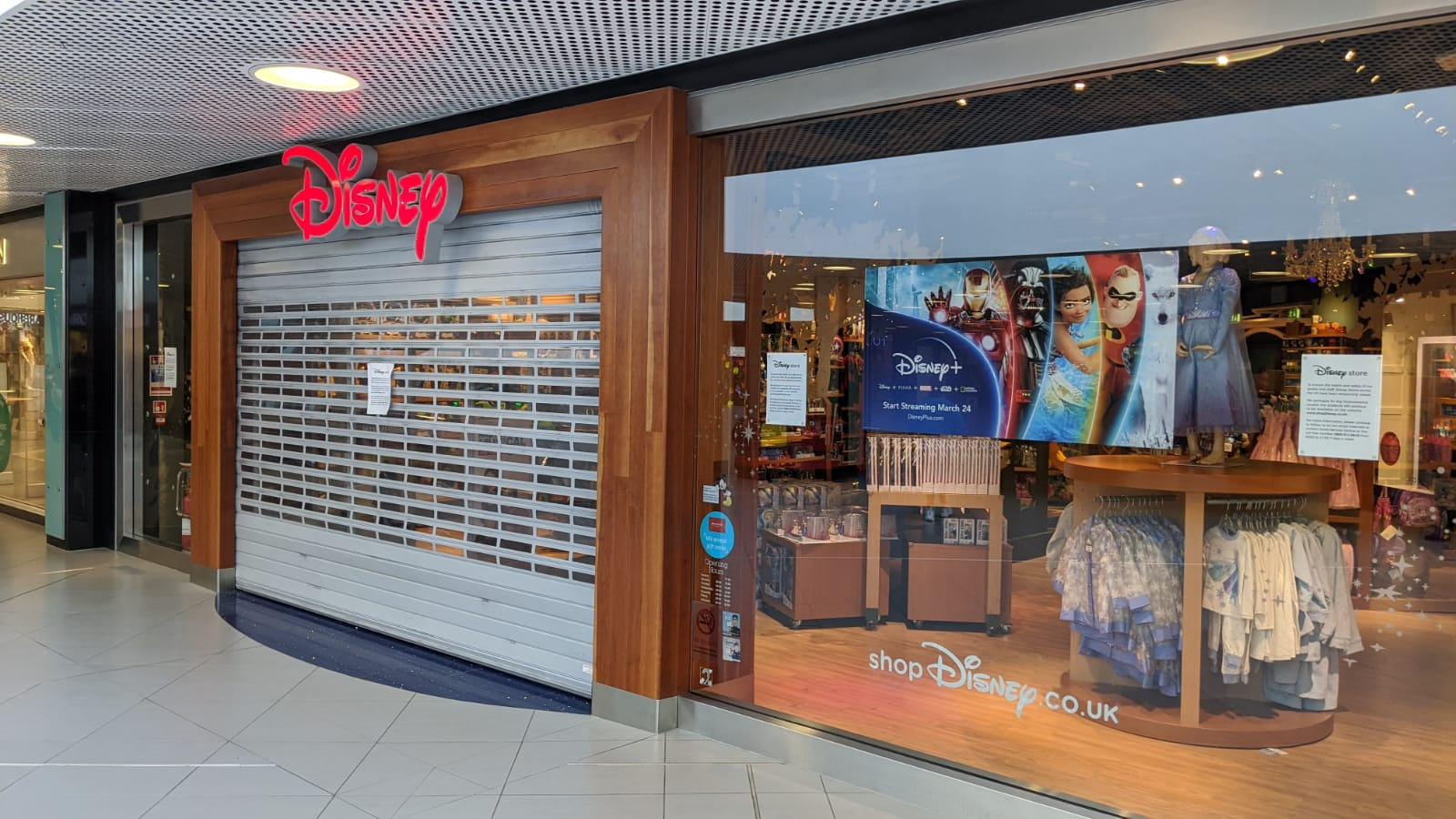 The Disney Store in the Bon Accord centre today