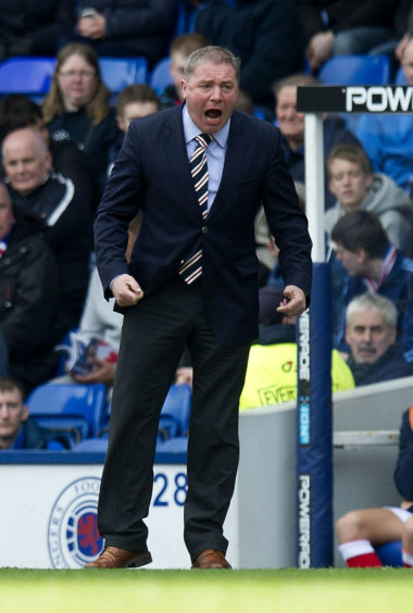 Rangers manager Ally McCoist on the touchline.