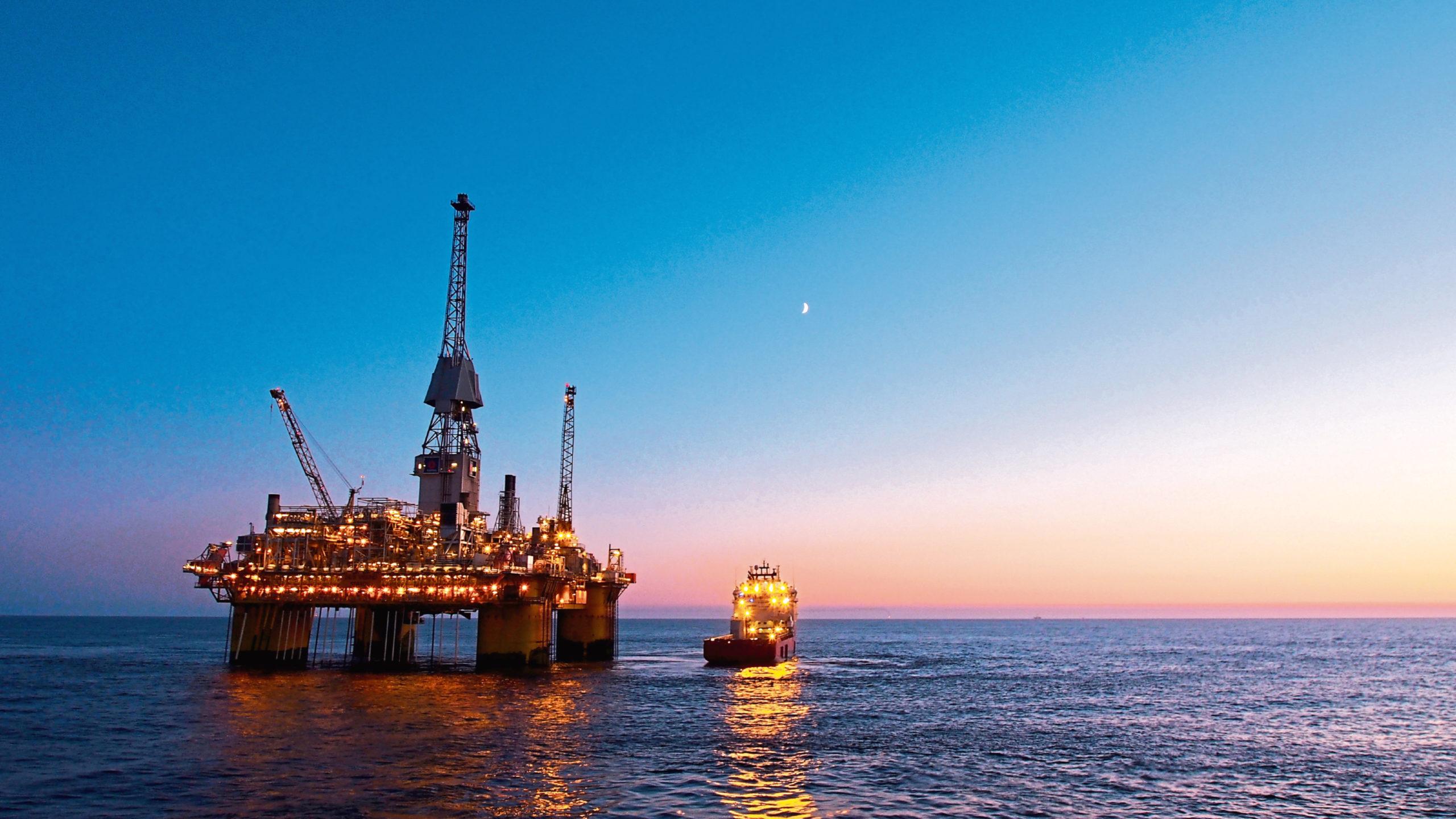 Production platform in North Sea region