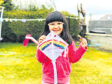 Aavana Karki, 5, made a rainbow kite with her uncle