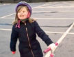 Maisie Smith, 7, enjoys her daily bit of exercise