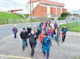 A health walk held around Pittodrie with the AFC Community Trust