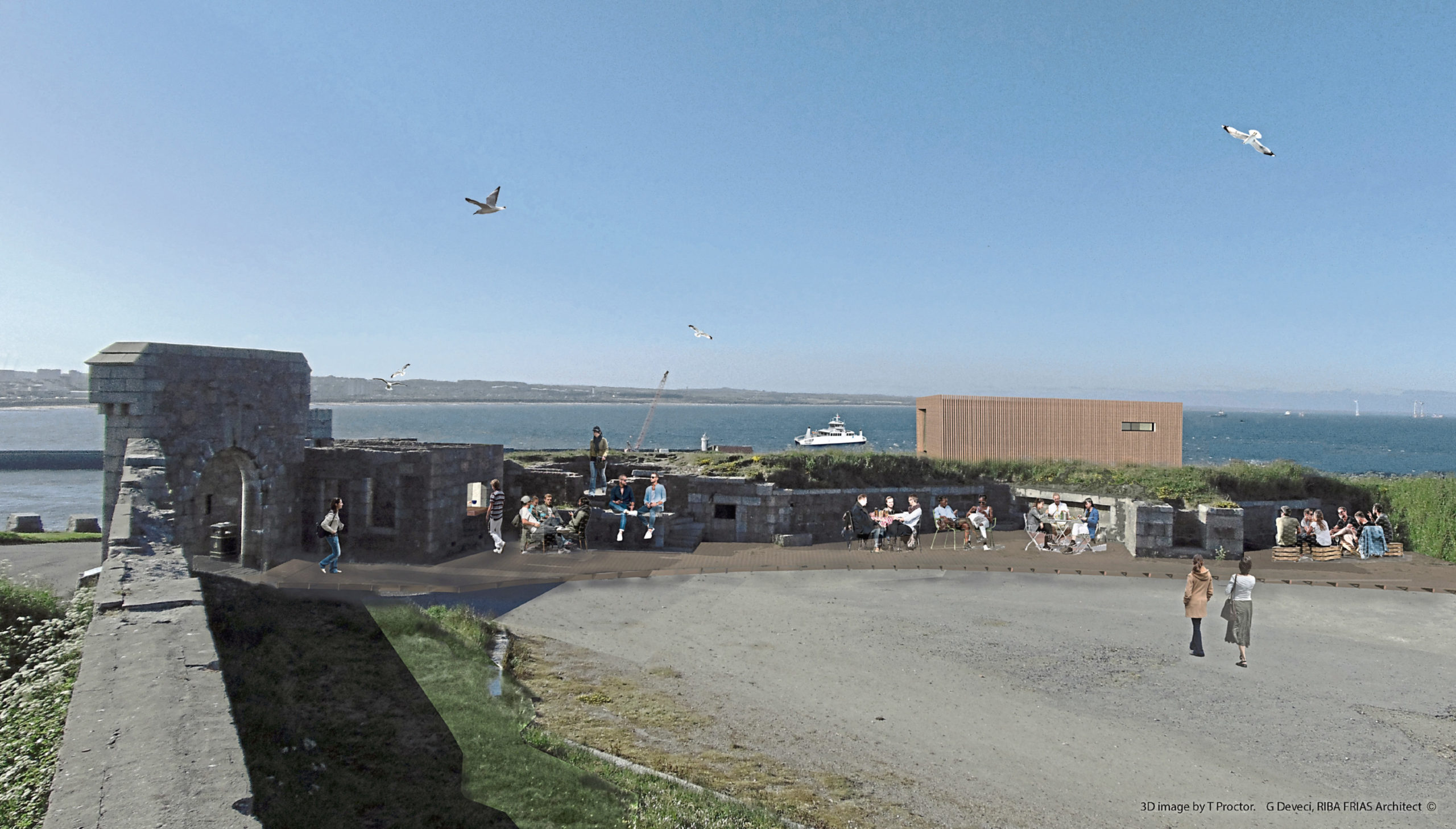 The dolphin-watching project is based at the Torry Battery