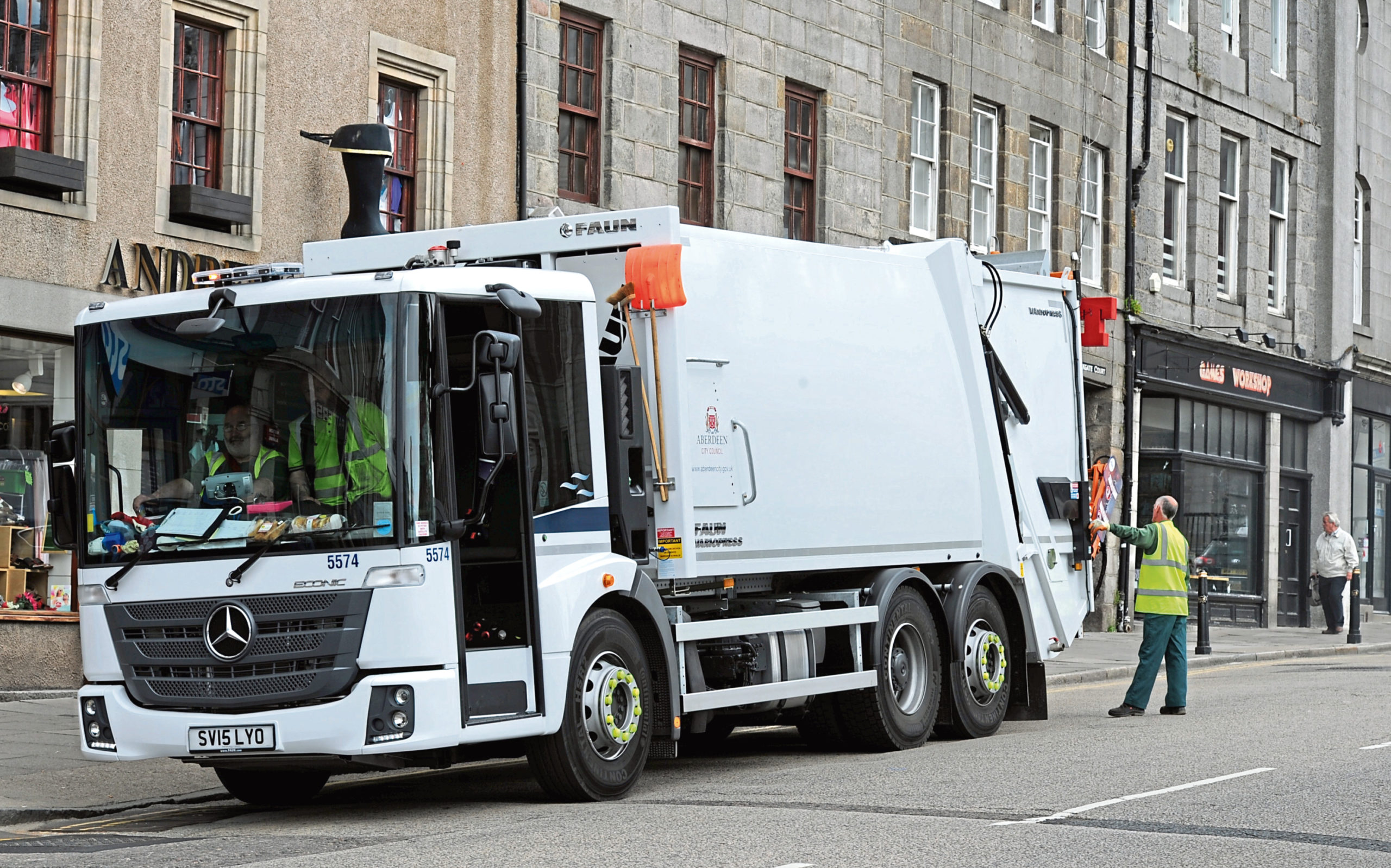 Council volunteers have helped get the recycling and garden waste collections back up and running