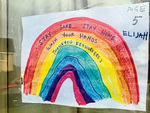 Window rainbows like this by Elijah, 5, from Elrick Primary School could be archived