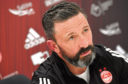 CR00220448 Aberdeen FC pre-match press conference for the away match against Motherwell friday evening.  Pictured - Dons manager Derek McInnes.      Picture by Kami Thomson         12-03-2020