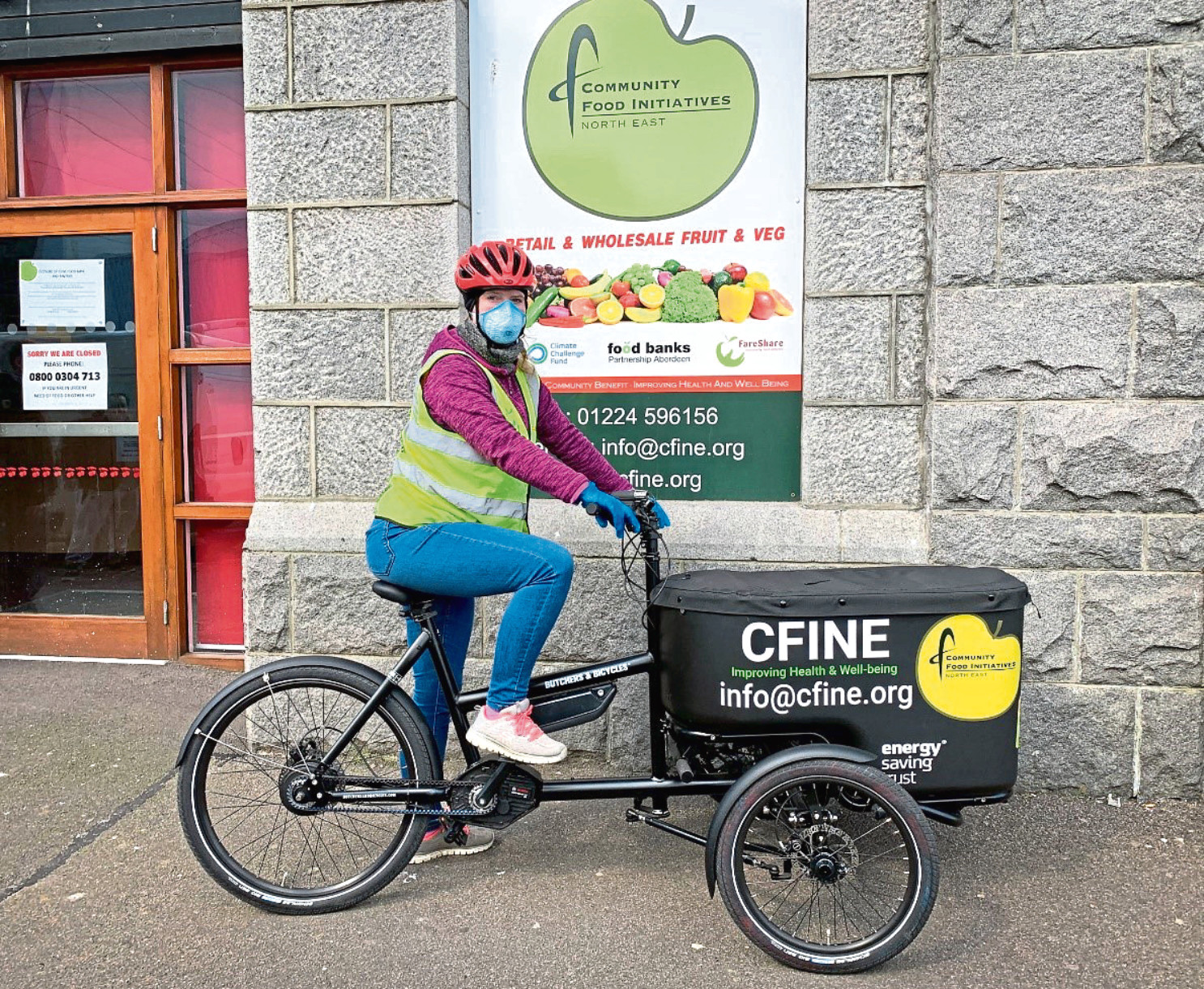One of the electric bikes in use