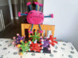 Helen Hepburn been crocheting colourful viruses after being challenged to make them by her family
