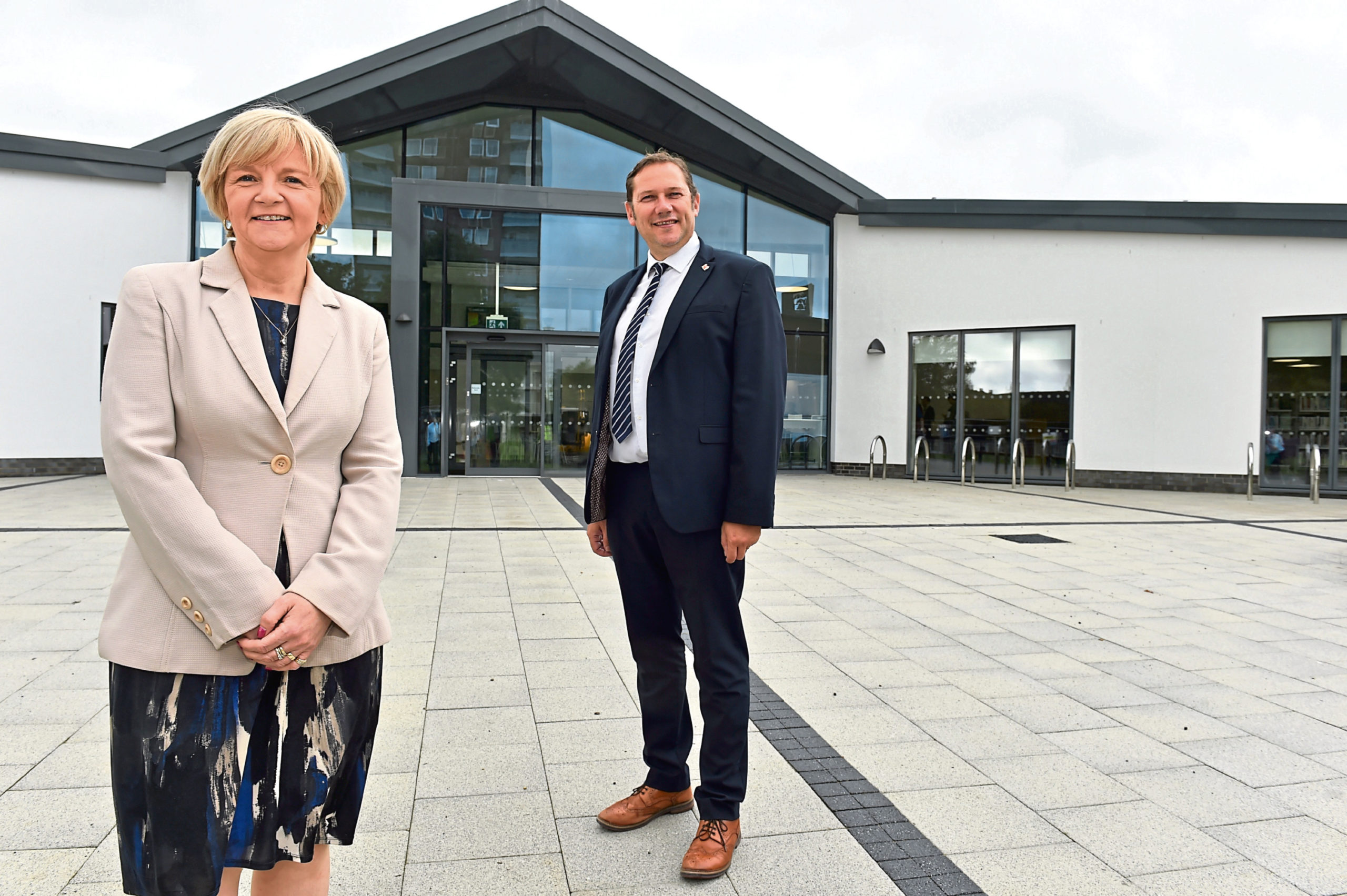 Aberdeen City Council co-leaders Douglas Lumsden and Jenny Laing