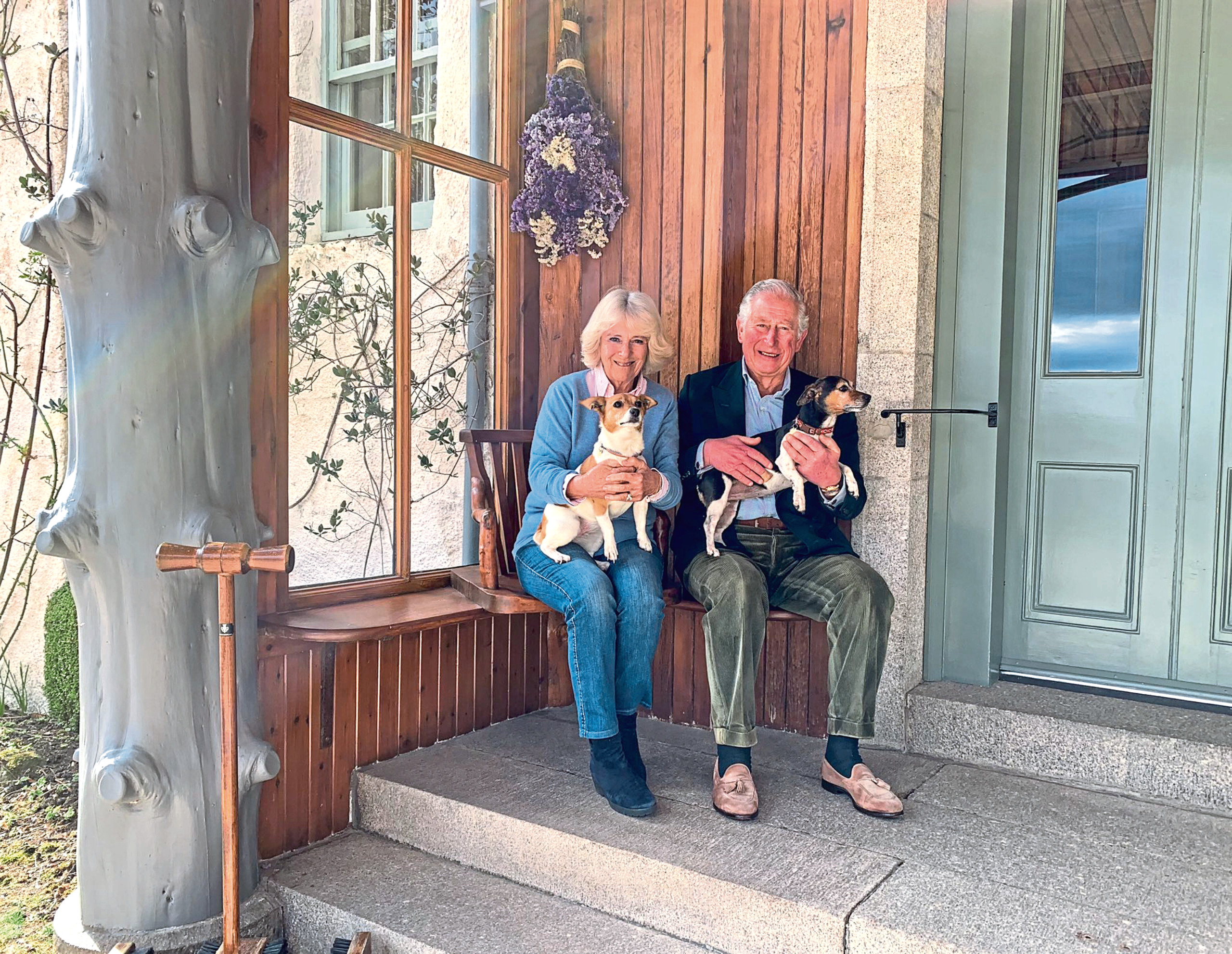 Charles and Camilla reunited at Birkhall