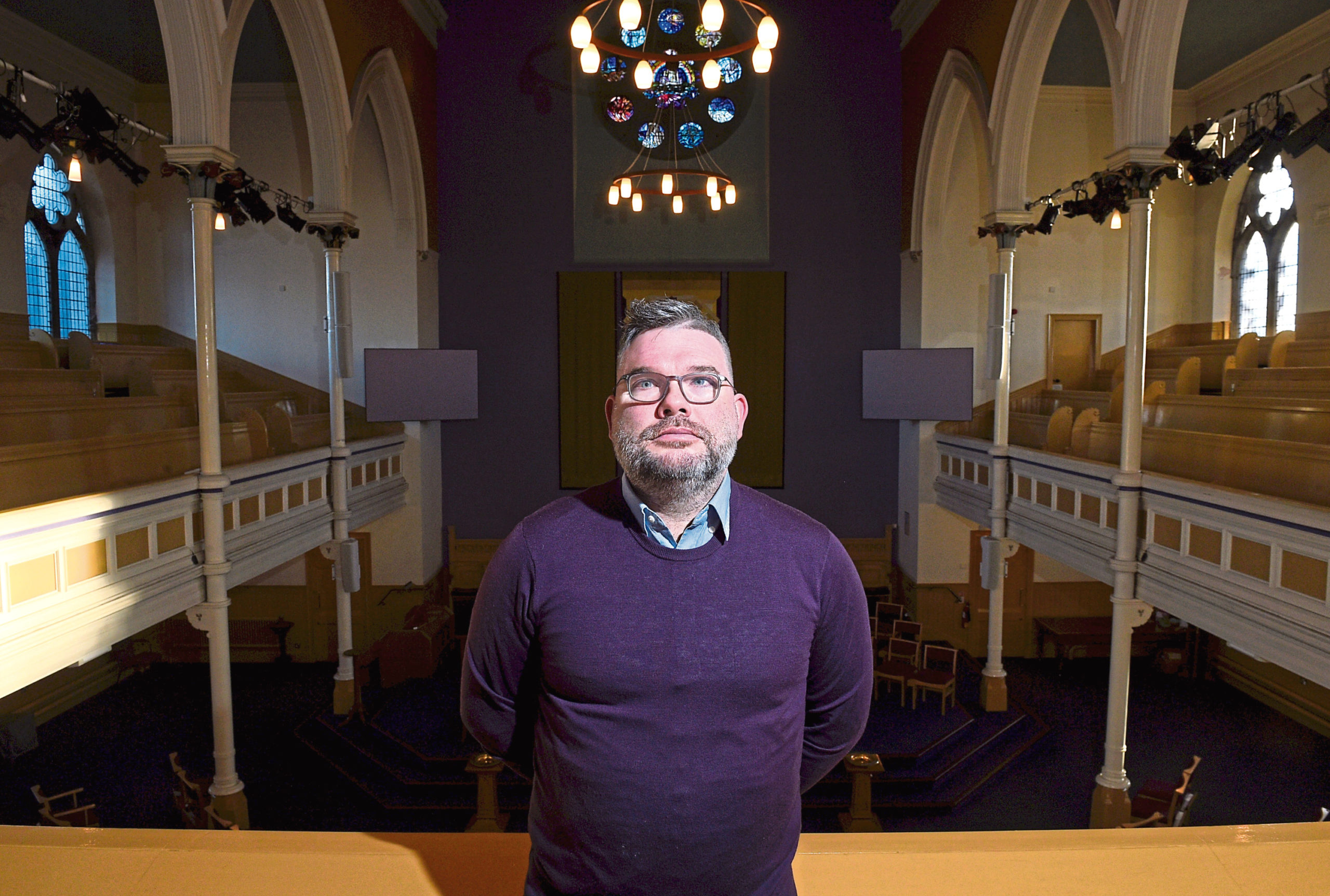 Reverend Scott Rennie at Queen's Cross Church