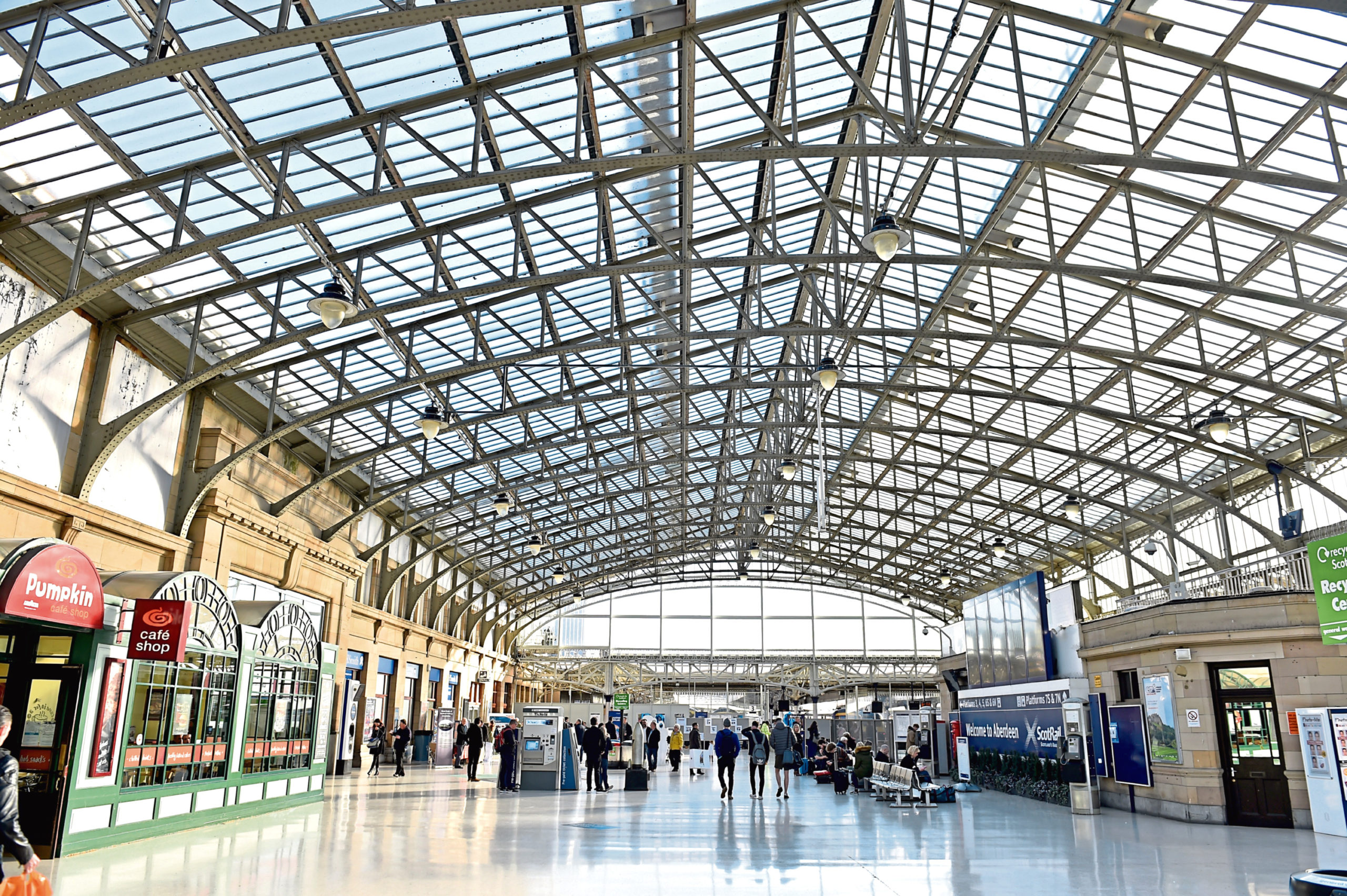 The works will be carried out at Aberdeen train station next month