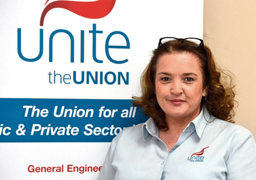 Unite regional officer Shauna Wright