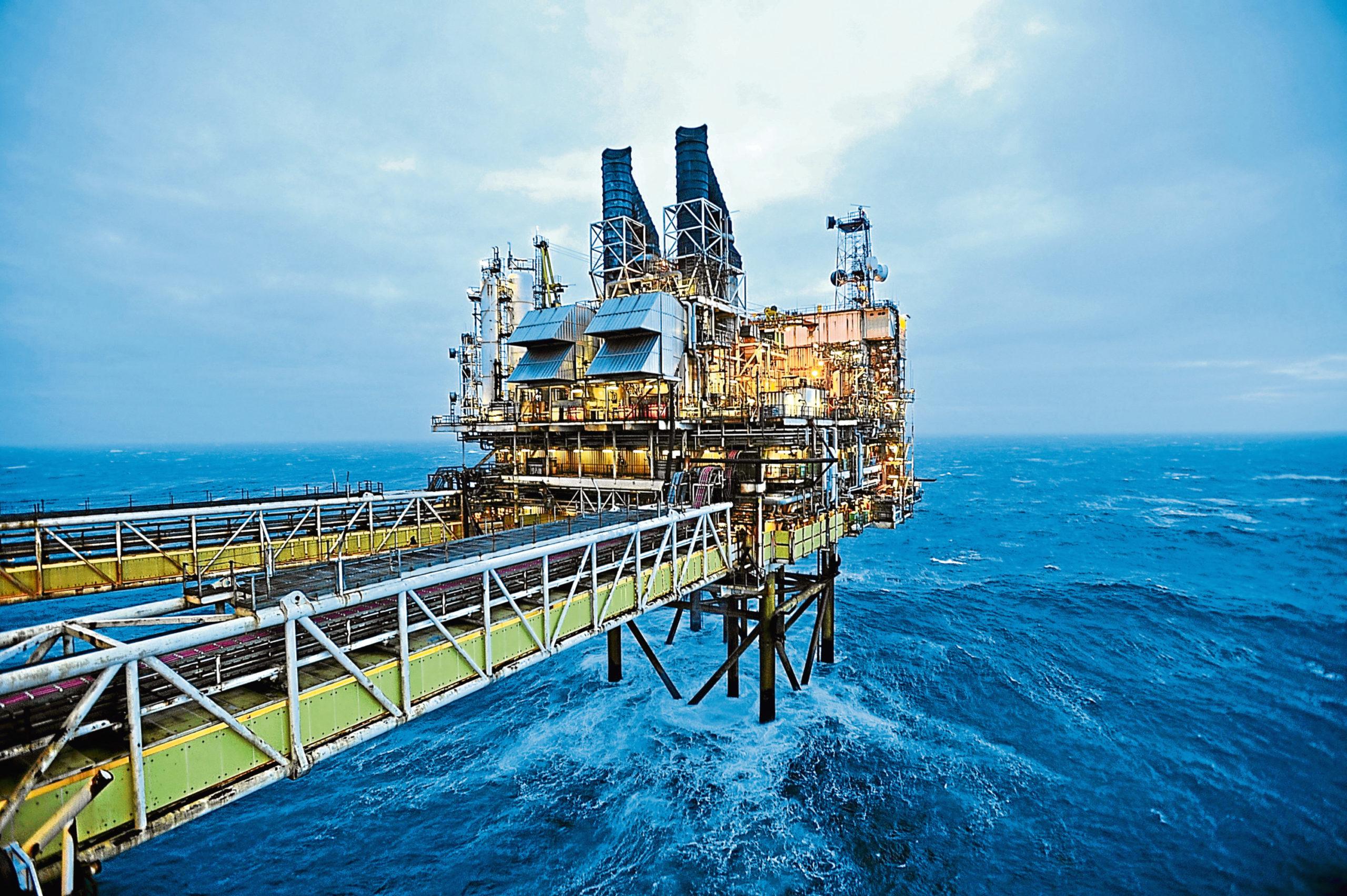 A view of part of the BP Etap platform