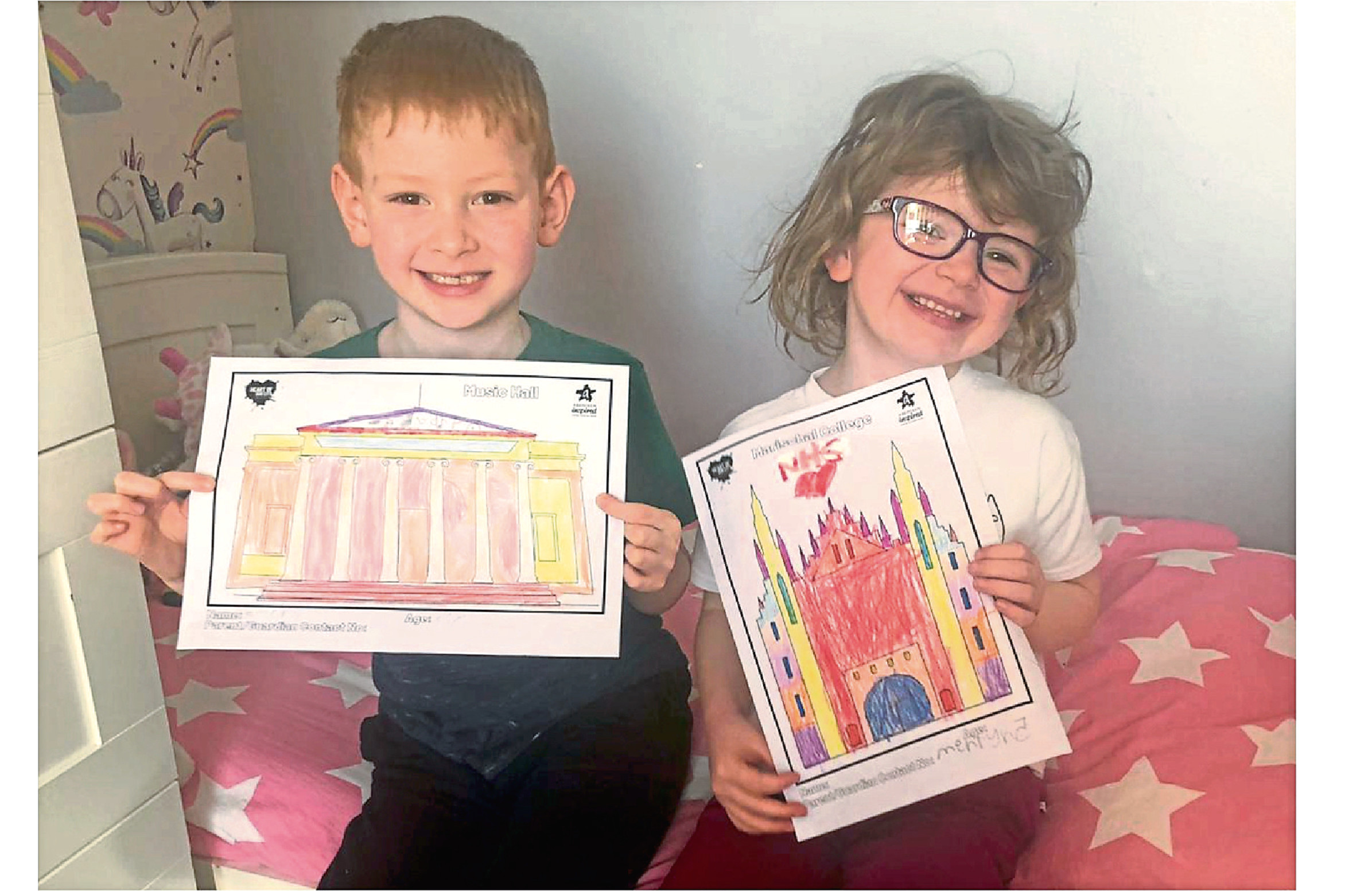 Emery, 7 and Mehryn, 5 brighten up readers' days with their pictures