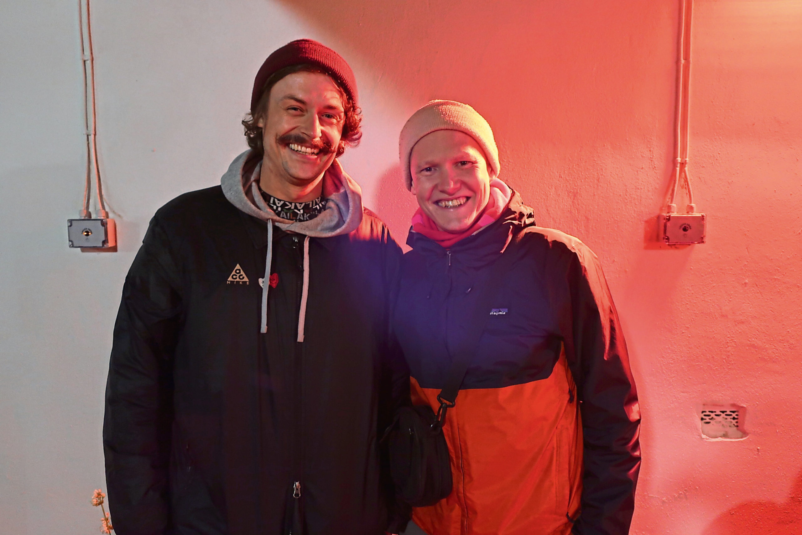 Sean Moggach and Mark Paterson, right. Mark is to do a live DJ stream to raise funds for CFINE