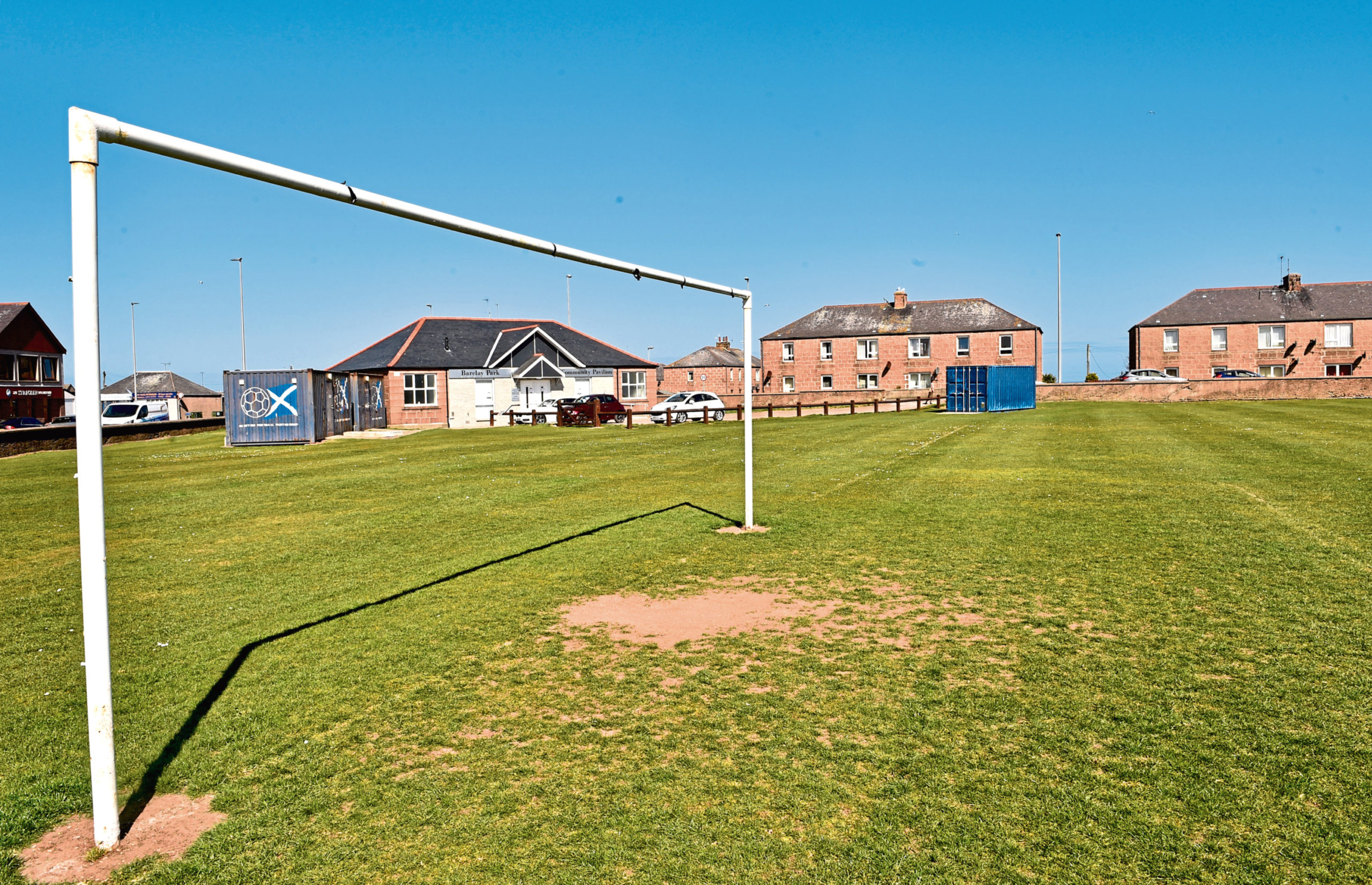 The football pitches on Ugie Street in Peterhead
