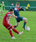 Andrew Greig, left, in action for Formartine United against Turriff United