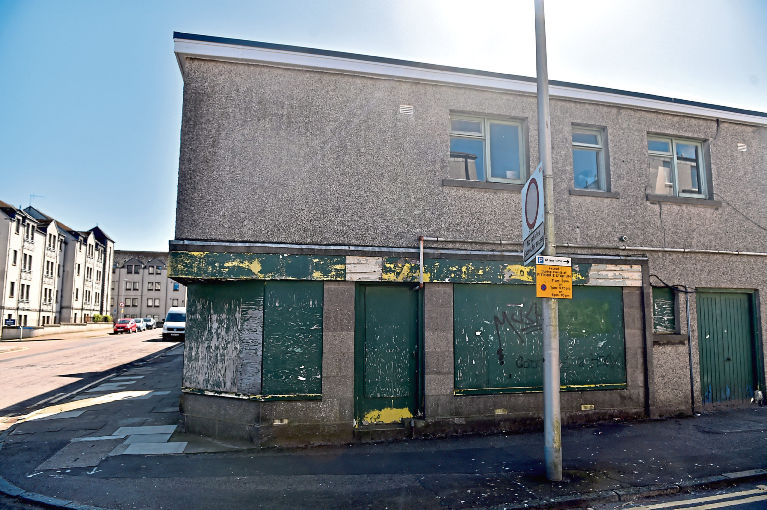 The property on the corner of Pittodrie Street and Ardarroch Street is currently vacant