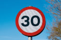 Speed Signs - 30mph speed sign; Shutterstock ID 223786897; Purchase Order: -