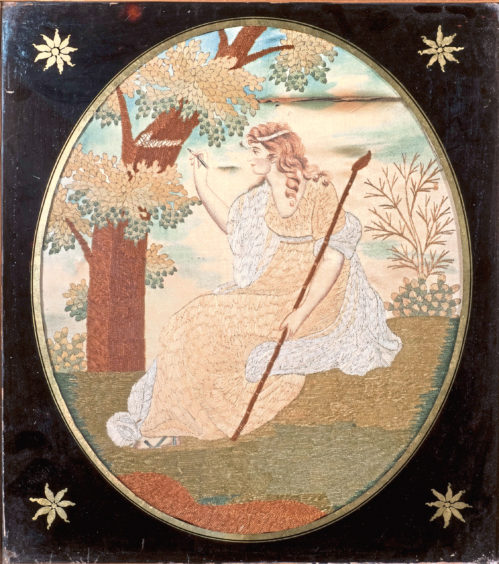 Embroidery – Woman Carving Tree