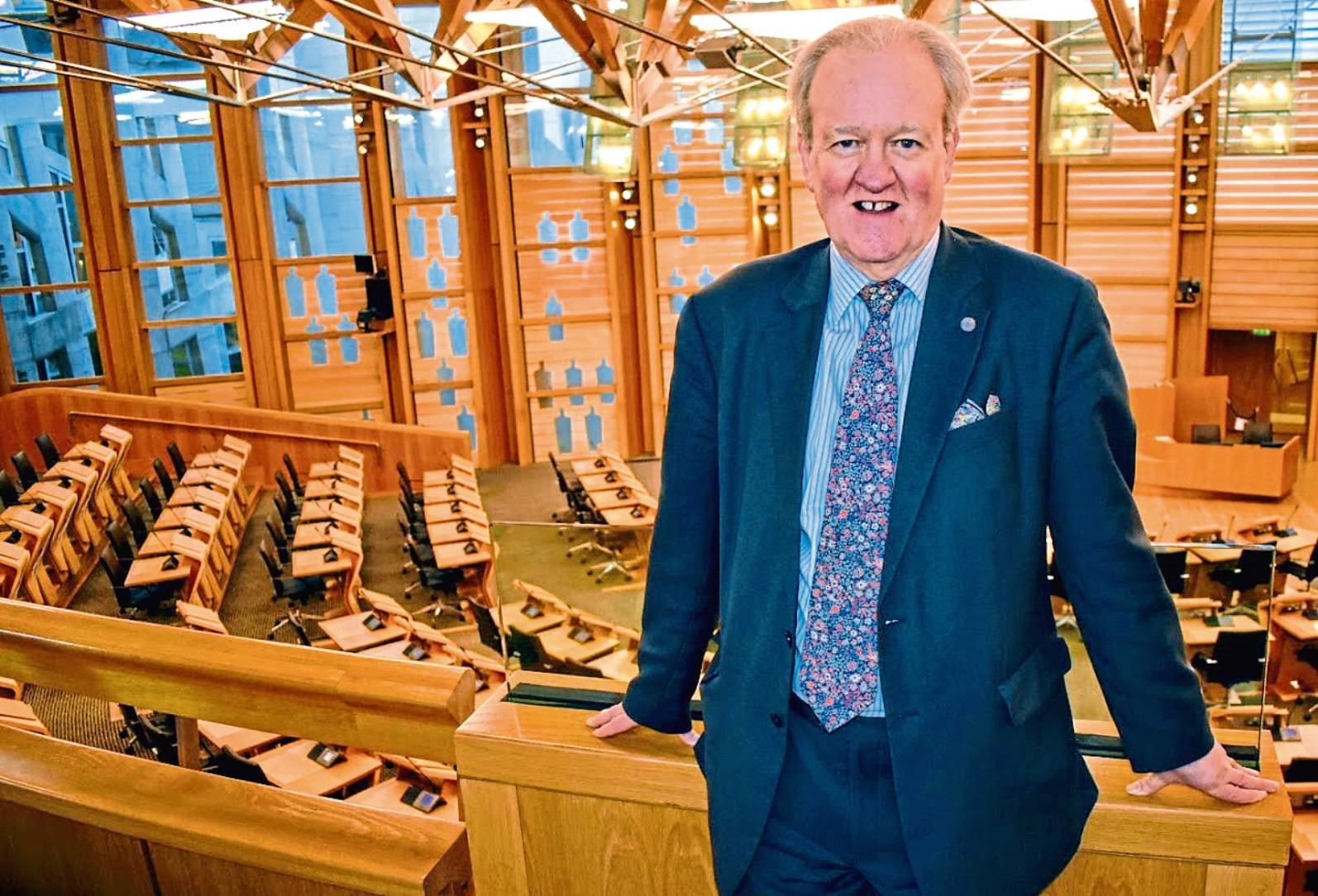 Stewart Stevenson MSP has lodged a motion in parliament thanking the mystery donor