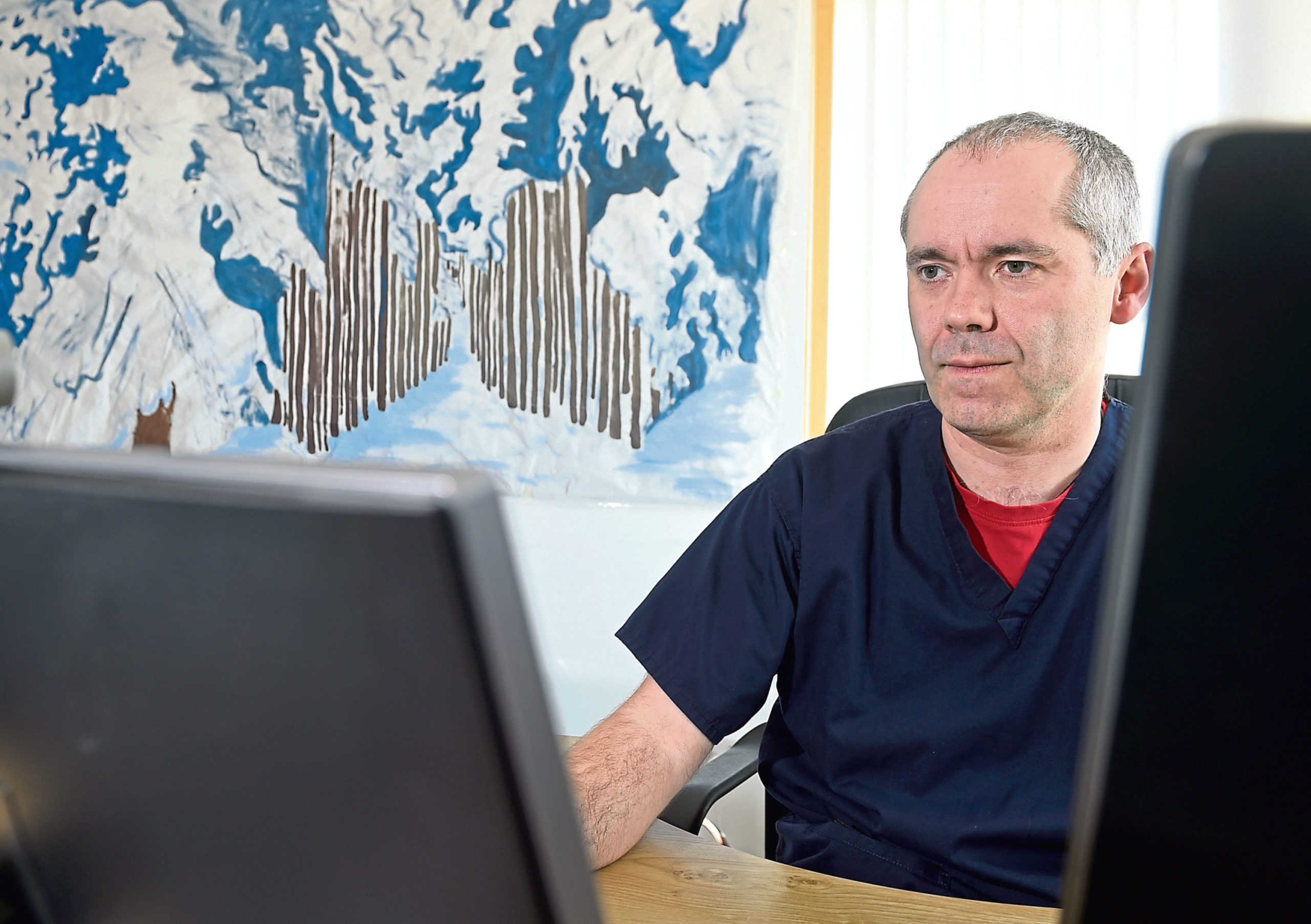 Dr Derek Kelly is a GP at Linkwood Medical Practice in Elgin who has been carrying out GP appointments virtually