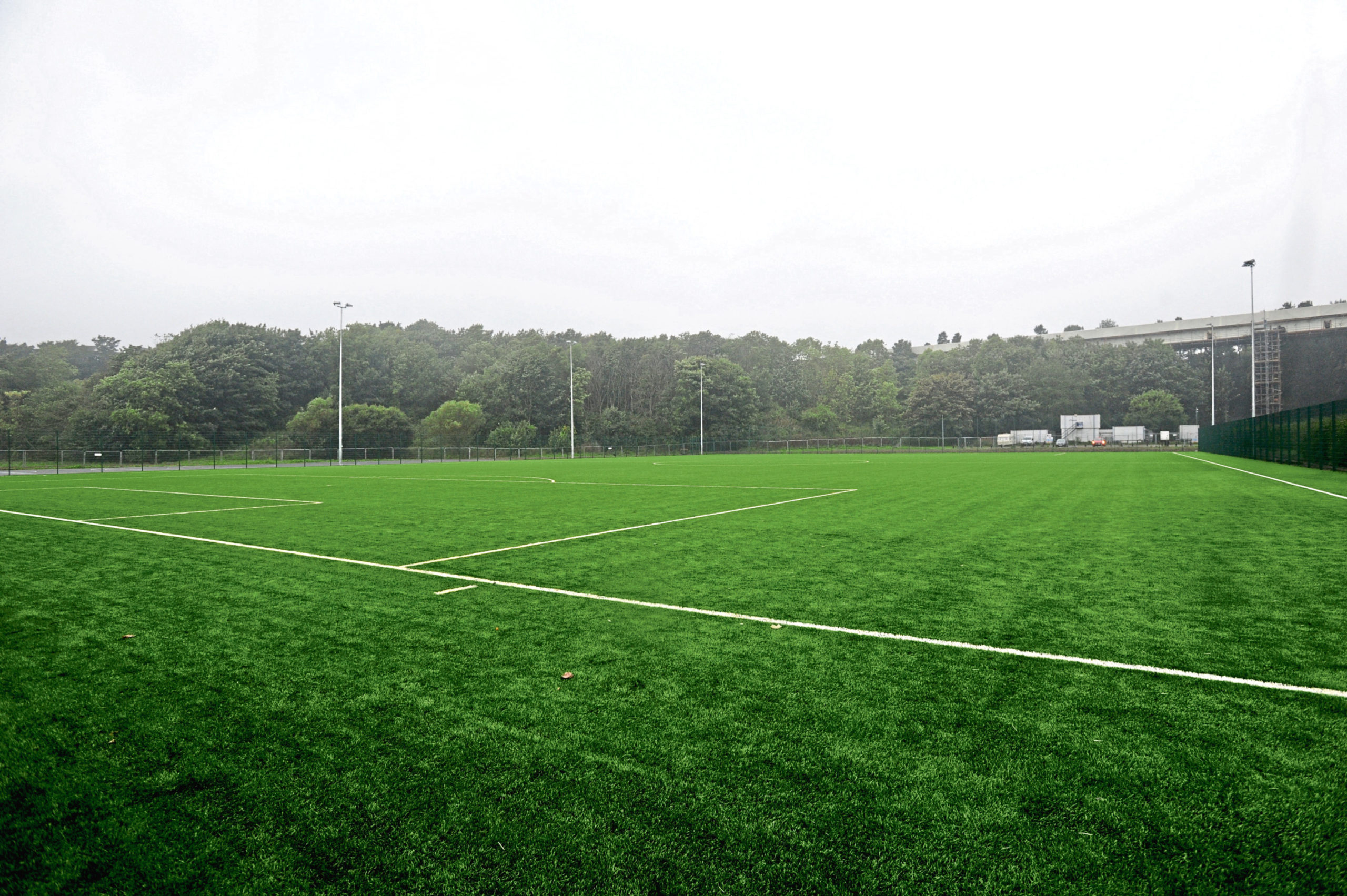 The all new weather pitch at Mineralwell Park, Stonehaven