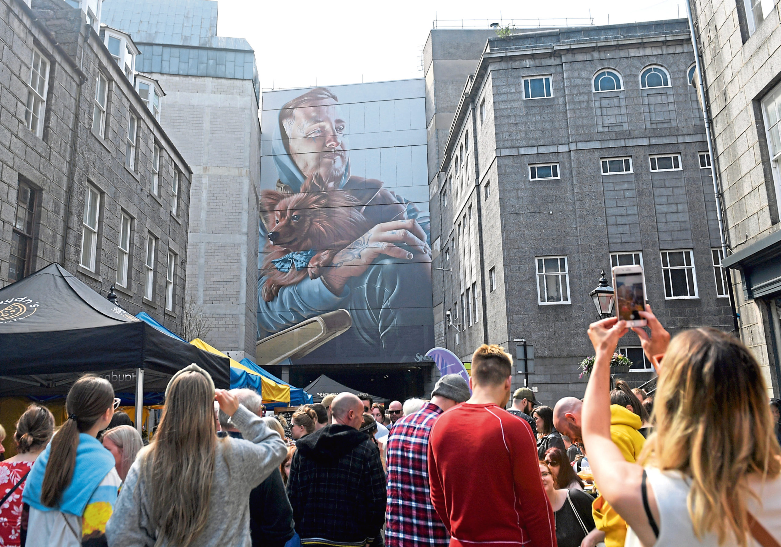 The street festival attracts artists from all over the world to Aberdeen