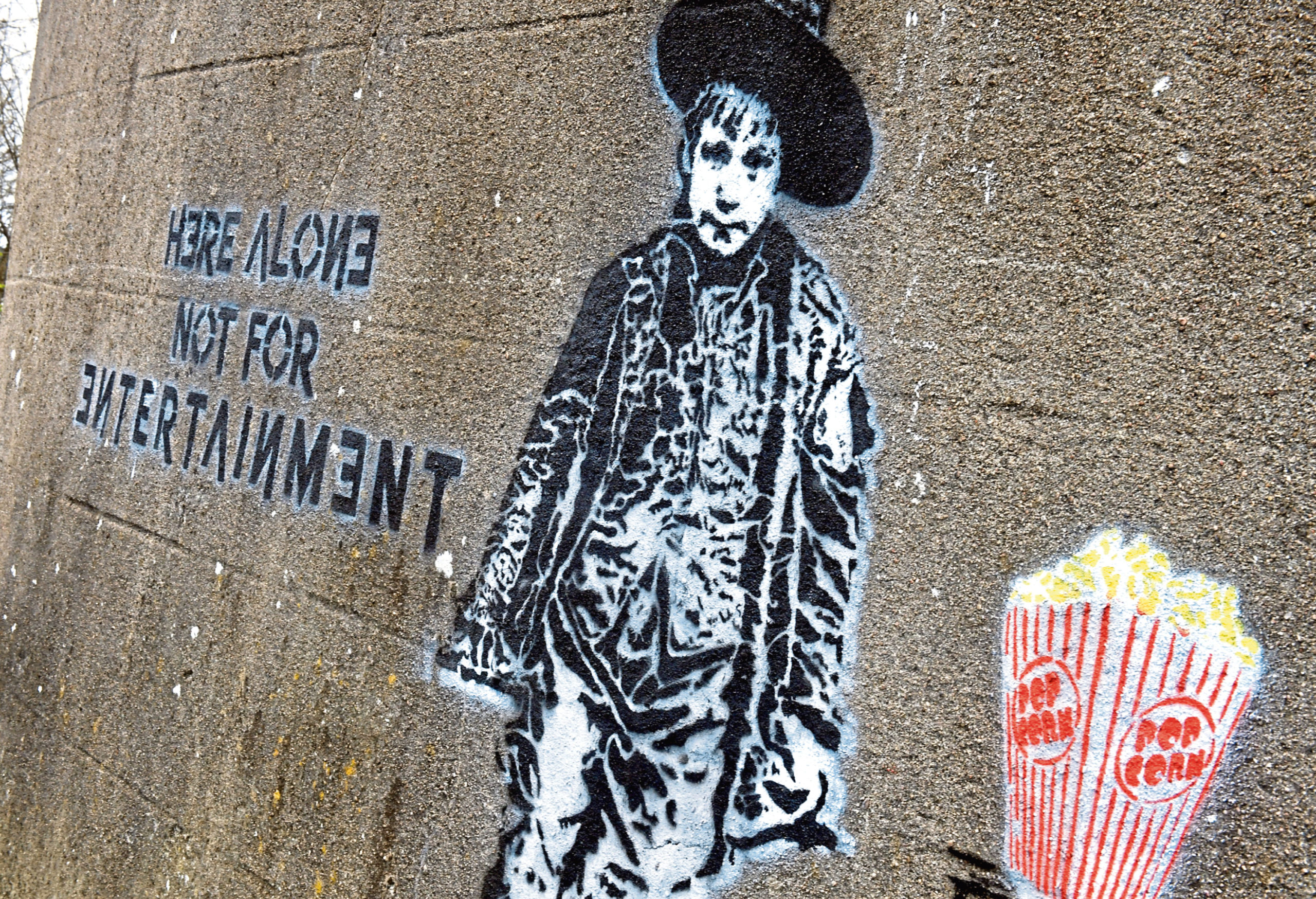 The mural suddenly appeared on Leslie Terrace in the city last week