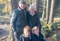 Matthew and Thomas with their Papa, Gerard McKenna and Nana, Marjorie McKenna