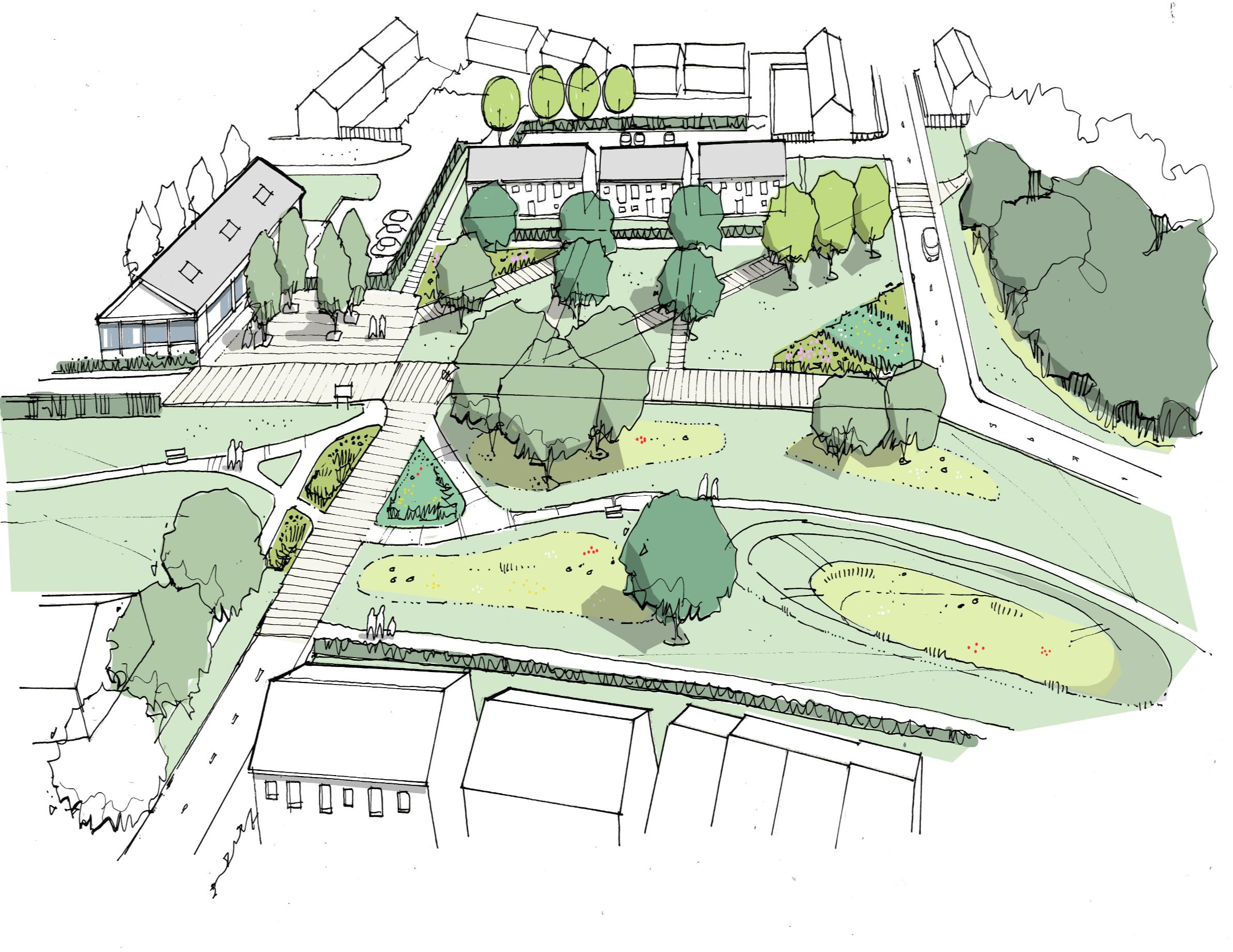 An artist's impression of the proposed development at Cloverhill, Bridge of Don