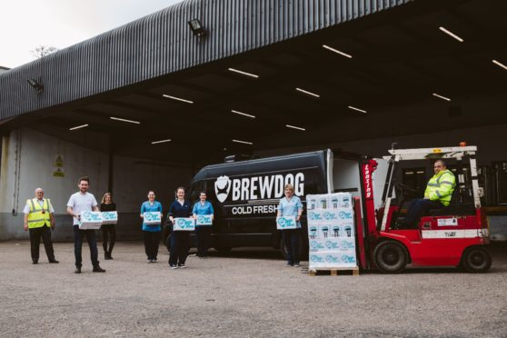 BrewDog has supplied hand sanitiser to NHS Grampian
