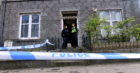 Police outside a property on Walker Road today